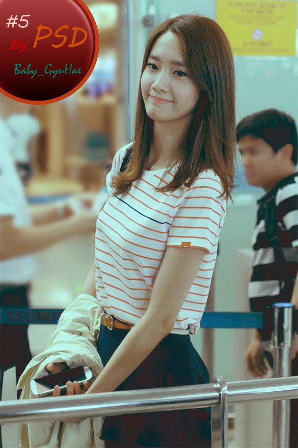 #5 PSD – YoonA at airport | Baby GyuHae